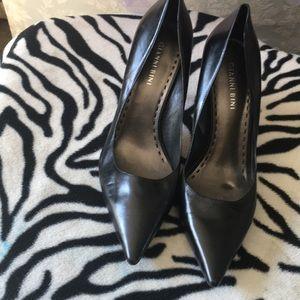 Gianni Bini black leather stilettos.  8 1/2 M